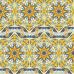Fishy Tail Star With Fancy Border Tiles