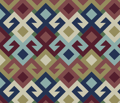07143534 : kilim fertility 2j3 : heriz fabric by sef on Spoonflower - custom fabric