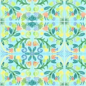 Spanish Tile Floral