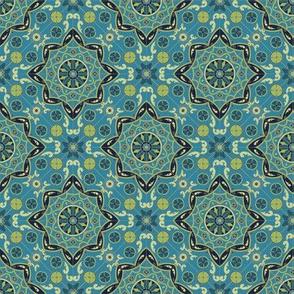 Melanie Ortner - spanish tile - kaleidoscope