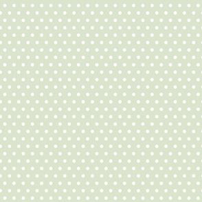 Thyme Green Polka Dot