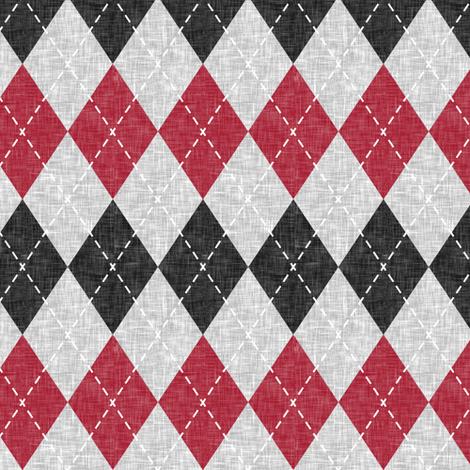 Argyle - red, black, grey fabric by littlearrowdesign on Spoonflower - custom fabric