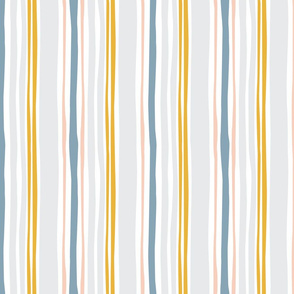 Wavy stripe in blue and grey