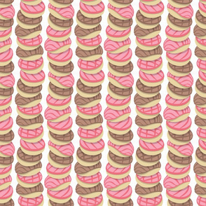 Mexican pan dulce // white background pink conchas