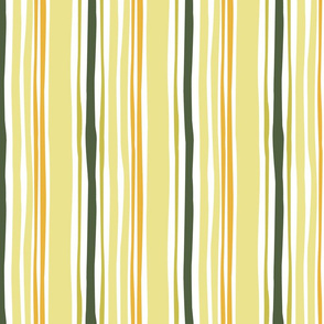 Wavy stripe in yellow and green
