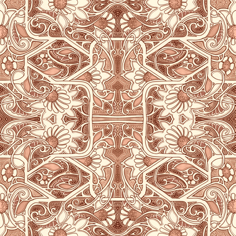 Seeping Psychedelic in Sepia  fabric by edsel2084 on Spoonflower - custom fabric