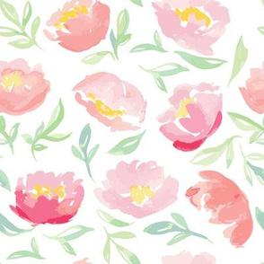 Coral Watercolor Florals