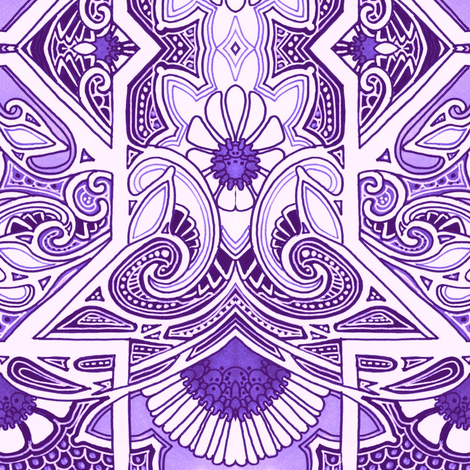 Mother Told Me Not to Eat the Purple Things fabric by edsel2084 on Spoonflower - custom fabric