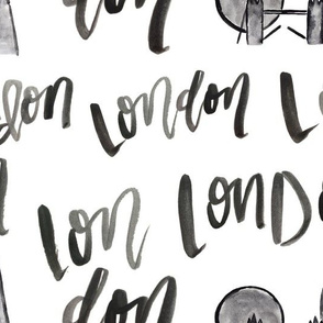 London Watercolor Lettering