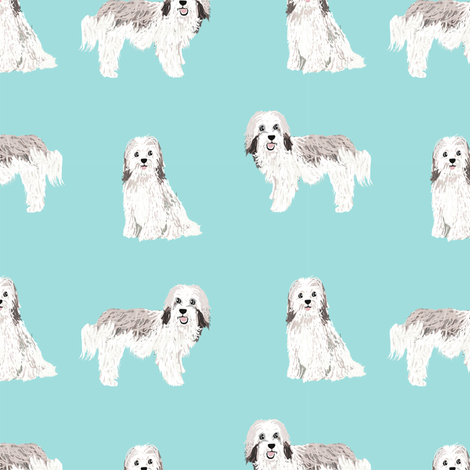 havanese simple dog breed pure breed fabric light blue fabric by petfriendly on Spoonflower - custom fabric