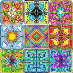colorful Spansh tiles