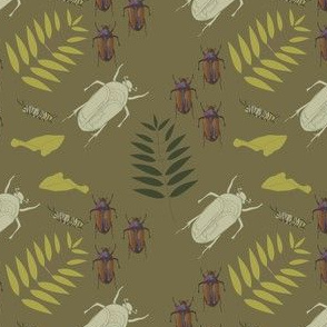 Lepidoptera Beetle print Earth