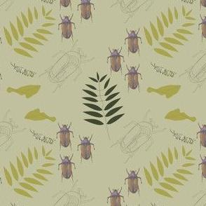 Lepidoptera Beetle print Plant