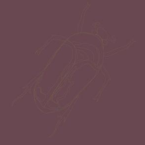 Lepidoptera UV dark Large Beetle Monochromatic 12inch