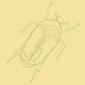 Lepidoptera Sun Large Beetle Monochromatic 12inch