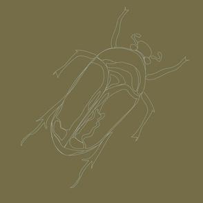 Lepidoptera Earth Large Beetle Monochromatic 12inch