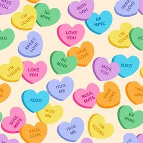 Valentine's Day Candy Hearts Cute Valentines Day