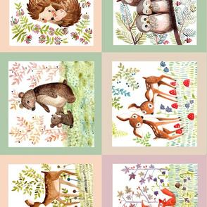 baby blanket pastel horizontal