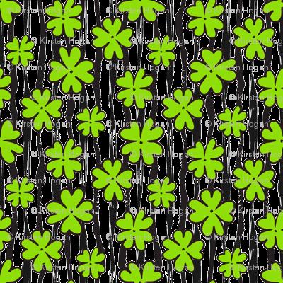 Saint Patricks Day Cute Four Leaf Clover  and Stripes St. Patricks Day