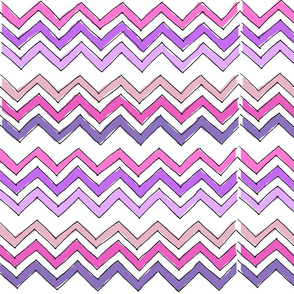 Sketched Chevron in Pink & Purple