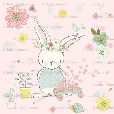 """4"""" Garden Bunny / Pink"""