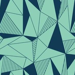 triangle maze green