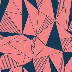 triangle maze pink