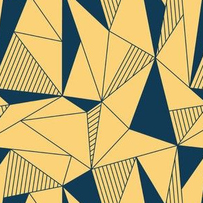 triangle maze yellow