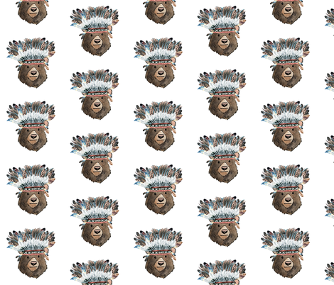 "8"" Chief Bear fabric by shopcabin on Spoonflower - custom fabric"