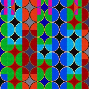 colorful rectangles & circles