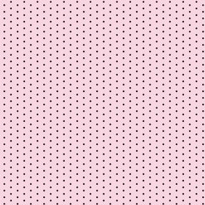 dots // pink and black sweet preppy polka dots little dots - mini