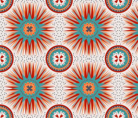Sunshine and Rain fabric by pamelachi on Spoonflower - custom fabric