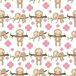 Sleepy Sloths Pink