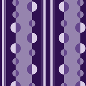 Modern Stripes and Circles in Purples and Violet