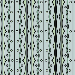 Mod Squiggles in Sage Green
