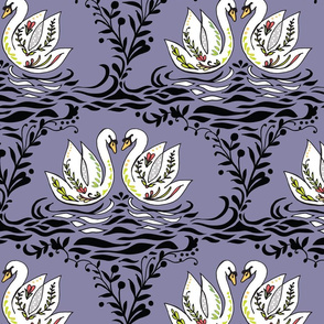 Swan Lake: by Night purple