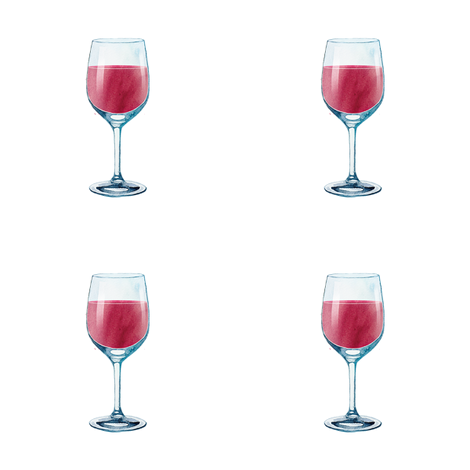 "red wine glass 4"" x 4"" fabric by knitifacts on Spoonflower - custom fabric"