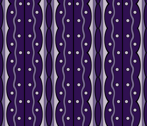 Mod Squiggles in Violet, Purples fabric by mel_fischer on Spoonflower - custom fabric