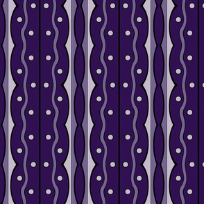 Mod Squiggles in Violet, Purples