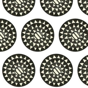 AFRICAN POLKA DOT BLACK AND WHITE SINGLE 2