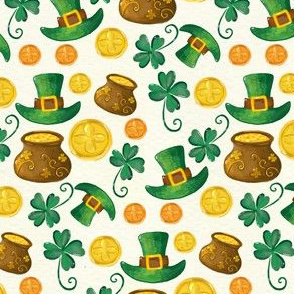Saint Patricks Day Leprechaun Hat Pot of Gold Cute Clover St. Patricks Day