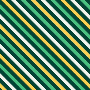 Saint Patrick's Day Green Gold Stripes Diagonal St. Patricks Day