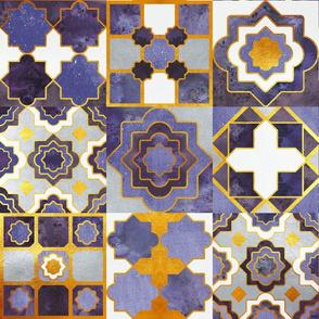 Spanish tiles inspiration // ultra violet golden lines