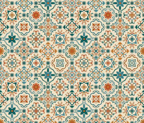 Spanish Tiles fabric by maritcooper on Spoonflower - custom fabric