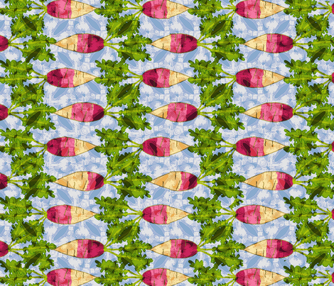 french breakfast radish  fabric by lfntextiles on Spoonflower - custom fabric
