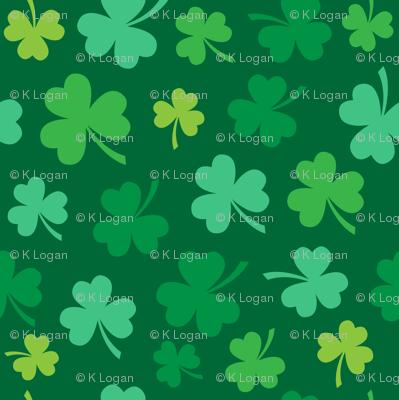 Saint Patrick's Day Green Clovers St. Patricks Day