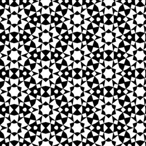 Geometric Circles Black and White