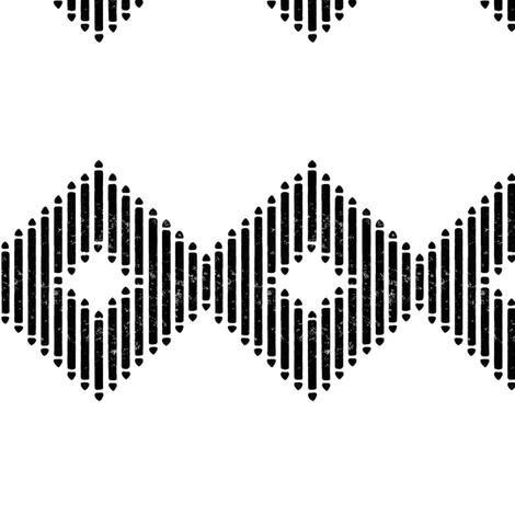 Block Print Diamond Stripe fabric by always_june on Spoonflower - custom fabric