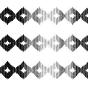 Block Print Diamond Stripe