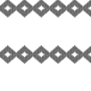 Large Block Print Diamond Stripe
